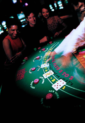Blackjack at a casino in Las vegas