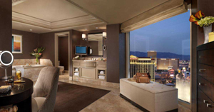 Bellagio Cypress suite living room in Las Vegas