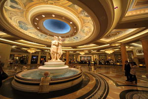 The lobby at Caesars Palace, Las Vegas