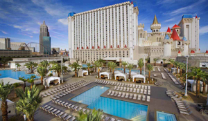 Excalibur hotel and pool in Las Vegas