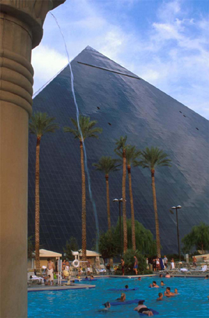 Luxor pool and hotel in Las Vegas