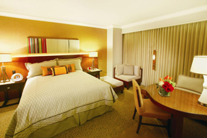 Mandalay Bays deluxe king room in Las Vegas
