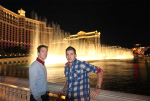 Emil and Joel, Fountains of Bellagio