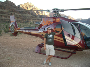 Helicopter tour to Grand Canyon
