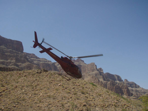 Helicopter in Grand Canyon west Arizona