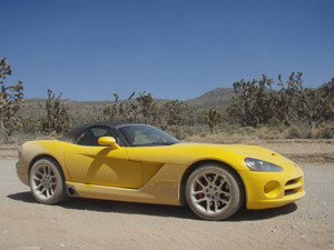 Dodge Viper rental on Las Vegas Strip, to Grand Canyon