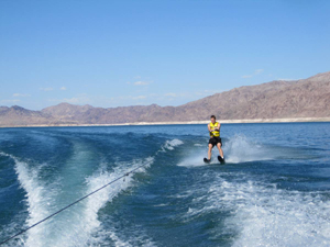 Waterskiing at Lake Mead in Las Vegas