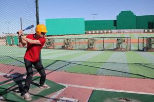 trying baseball in Las Vegas