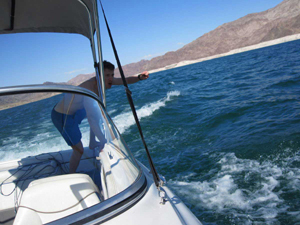 Lake mead, dive from boat