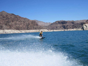 Water skiing in Lake Mead