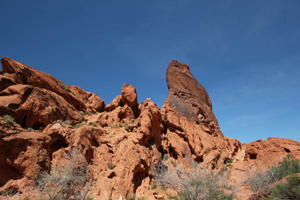 climbing on a sandstone, valley of fire las vegas