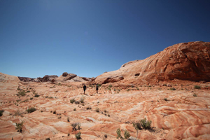 Hiking in valley of fire