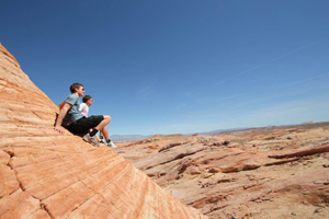 Nice view valley of fire, dangerously steep
